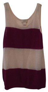 Ann Taylor LOFT Top Magenta and Ivory