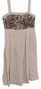 Harvé Benard short dress Taupe/Cream on Tradesy