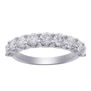 Avital & Co Jewelry 0.75 Carat Ladies 9 Stone Diamond Wedding Anniversary Band Ring 14k White Gold