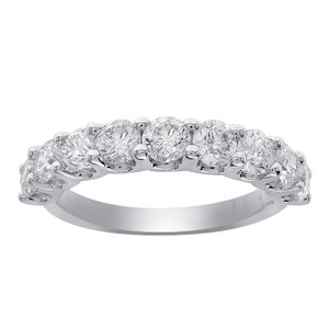 Avital & Co Jewelry 2.00 Carat Ladies 9 Stone Diamond Wedding Anniversary Band Ring 14k White Gold