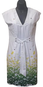 Cynthia Steffe short dress white,yellow and green White Summer Floral Studs on Tradesy