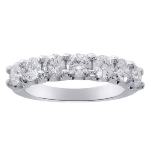 Avital & Co Jewelry 1.50 Carat 7 Stone Diamond Wedding Anniversary Band Ring 14k W,gold