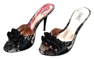 Carlos Santana Stiletto Shoe Black lace Platforms