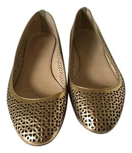 J.Crew J. Crew Made In Italy Leather gold Flats
