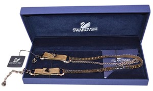Swarovski Swarovski Crystal 910880 Duel Choker Leather Necklace