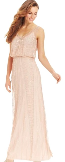 Item - Pink/Beige Style#93090 Long Cocktail Dress Size 6 (S)