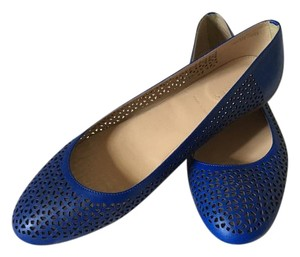 J.Crew J. Crew Made In Italy Leather royal blue Flats