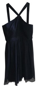 J.Crew Bridesmaid Navy Silk Chiffon Wedding Dress
