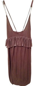 Stella McCartney Vintage Metallic Summer Cocktail Adjustable Flowy Linen Viscose Bronze Silver Gold Classic Dress
