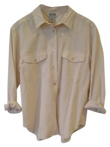 Allison Taylor Button Down Shirt Beige