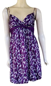 Max and Cleo short dress Purple Bubble Hem Leopard on Tradesy