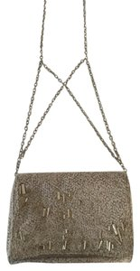 Theory Suede Leather Beaded Cross Body Bag