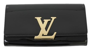 Louis Vuitton Patent Leather Black Clutch