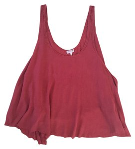 Free People Top Deep Coral Red