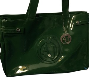 Armani Jeans Satchel in Hunter Green