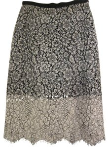 Topshop Lace Pencil Classic Work Skirt White