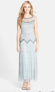 Pisarro Nights Blue Sky-Green Pisarro Nights Embellish Mesh Beaded Dress