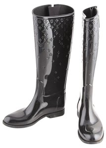Louis Vuitton Rain Rubber Black Boots