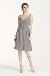 David's Bridal Mercury Gray F15603 Dress