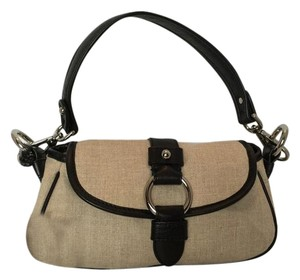 Banana Republic Linen Leather New Shoulder Bag