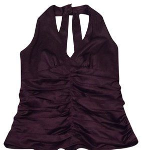 Express Dark Purple Halter Top