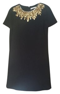 Alice + Olivia Embellished Cap Sleeve Gold Dress