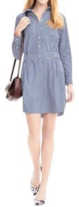 Banana Republic short dress Blue stripe on Tradesy