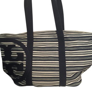 Tory Burch Tote in Navy ;Linen
