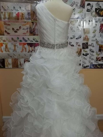 Impression Bridal Diamond White Organza 10156 Formal Wedding Dress Size 10 (M)