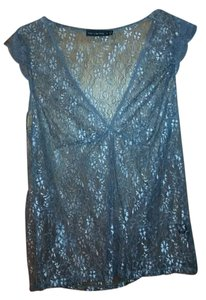 The Limited Lace V-neck Top grey