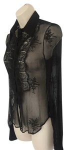 Alessandro Dell'Acqua Silk Top Black