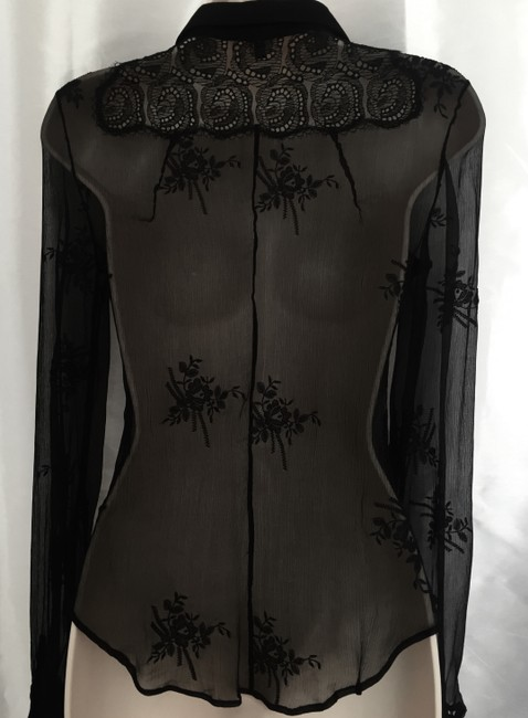 Alessandro Dell'Acqua Silk Top Black Image 1