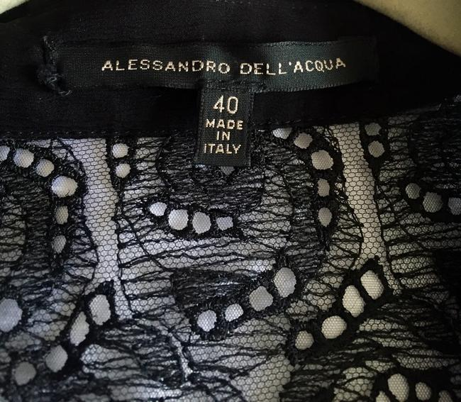 Alessandro Dell'Acqua Silk Top Black Image 3