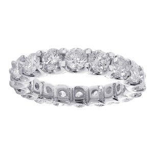 Avital & Co Jewelry 3.75 Carat Round Cut Diamond Eternity Band 14k White Gold