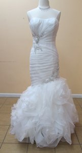 Impression Bridal Ivory Organza/Tulle/Satin 10130 Formal Wedding Dress Size 10 (M)