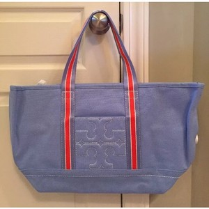 Tory Burch Canvas Casual Tote in Blue Dusk