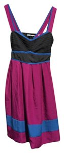 Kimchi Blue short dress Magenta, blue, gray on Tradesy
