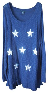 INC International Concepts Plus-size Patriotic Lightweight Sweater