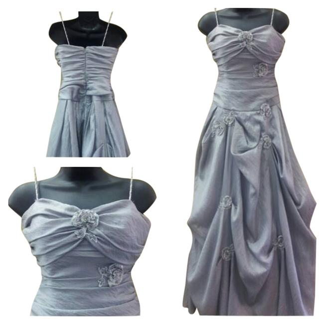 Preload https://item2.tradesy.com/images/morgan-and-co-prom-gown-pickup-style-skirt-dress-silver-1694441-0-0.jpg?width=400&height=650