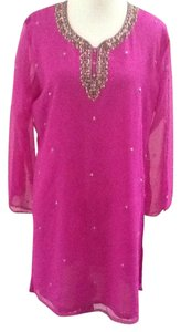 Other Pink Chic Sequins Tunic