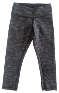 Lululemon Lululemon Wunder Under Crops, Wee Are From Space Black Cashew, Size 4