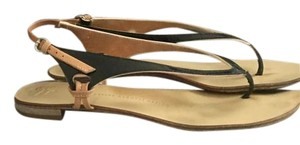 Giuseppe Zanotti Patent Leather Black Tan and Gold Sandals