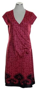 Athleta short dress Red Stretch Knit Cross Over on Tradesy