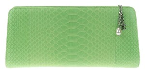 Chanel Animal Exotic Green Clutch