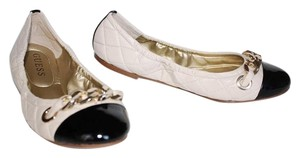 Guess Leather Patent Leather New Black/White Flats