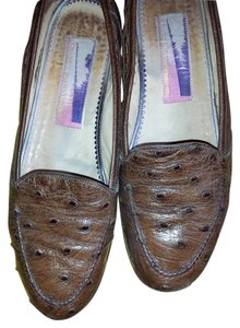 "Susan Bennis/Warren Edwards Vintage 1/2"" Heels Hand Made Made In Italy Cogna Flats"