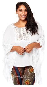 Other Plus Size Curvy Oversized Boho Fringe Tunic
