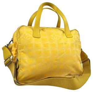 Chanel Shoulder 2way Two Way Satchel in Yellow