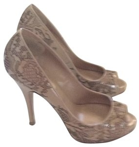 Valentino Nude lace with black undertone Pumps
