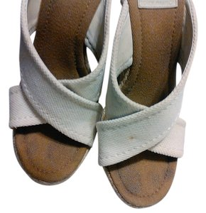 Tory Burch cream Mules